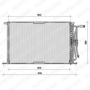 Радиатор кондиционера DELPHI TSP0225026