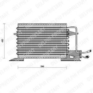 Радиатор кондиционера DELPHI TSP0225028