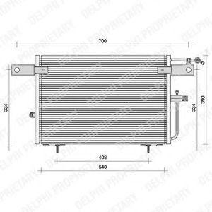 Радиатор кондиционера DELPHI TSP0225083