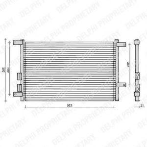 Радиатор кондиционера DELPHI TSP0225108