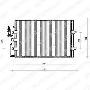Радиатор кондиционера DELPHI TSP0225110
