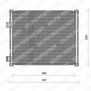 Радиатор кондиционера DELPHI TSP0225111