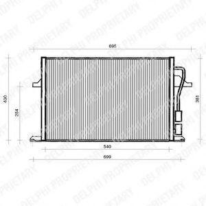 Конденсор кондиционера DELPHI TSP0225112