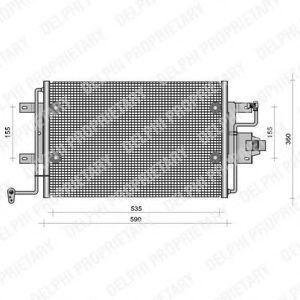 Конденсор кондиционера DELPHI TSP0225113