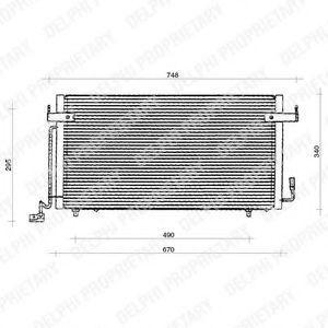 Радиатор кондиционера DELPHI TSP0225117