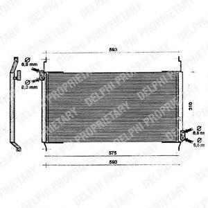 Радиатор кондиционера DELPHI TSP0225160