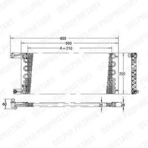 Конденсатор, кондиционер DELPHI TSP0225164