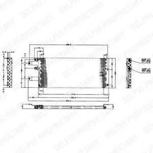 Конденсатор, кондиционер DELPHI TSP0225165