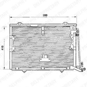 Радиатор кондиционера DELPHI TSP0225193