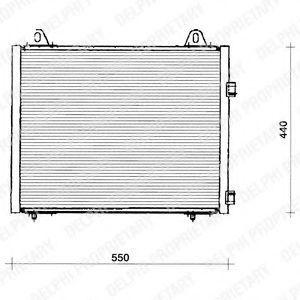 Радиатор кондиционера DELPHI TSP0225222
