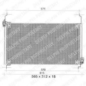 Радиатор кондиционера DELPHI TSP0225259