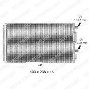Конденсатор, кондиционер DELPHI TSP0225260