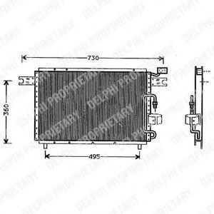 Конденсатор, кондиционер DELPHI TSP0225291