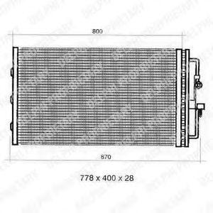 Конденсатор, кондиционер DELPHI TSP0225353