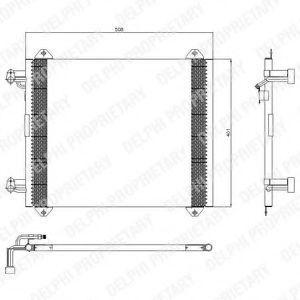 Конденсор кондиционера DELPHI TSP0225407