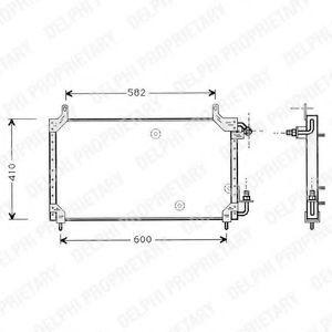 Радиатор кондиционера DELPHI TSP0225413