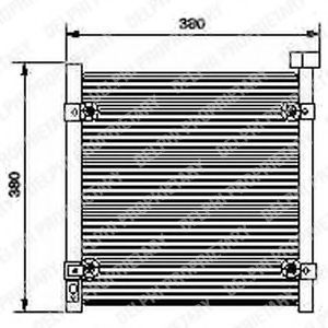 Радиатор кондиционера DELPHI TSP0225422
