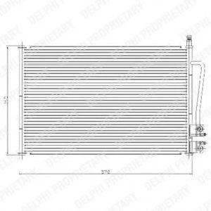 Радиатор кондиционера DELPHI TSP0225459