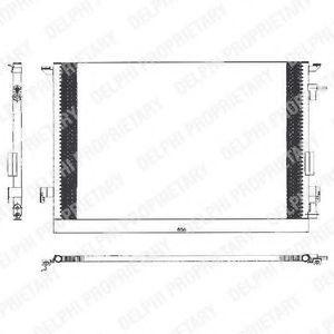 Радиатор кондиционера DELPHI TSP0225463
