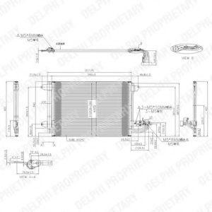 Радиатор кондиционера DELPHI TSP0225482