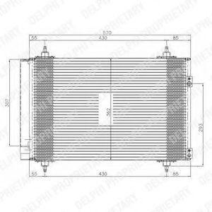 Радиатор кондиционера DELPHI TSP0225548