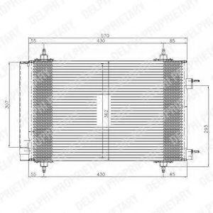 Радиатор кондиционера DELPHI TSP0225549