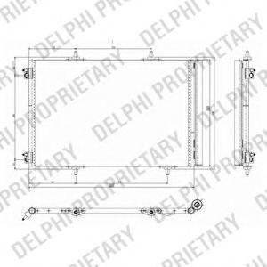 Радиатор кондиционера DELPHI TSP0225642
