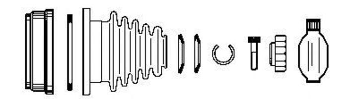 Шарнирный комплект, приводной вал FARCOM 134136