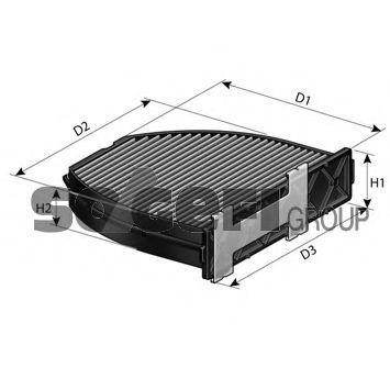 Фильтр, воздух во внутренном пространстве Tecnocar EC620