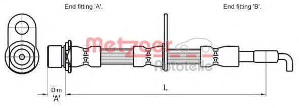 Тормозной шланг METZGER 4110001