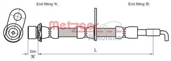 Тормозной шланг METZGER 4110009