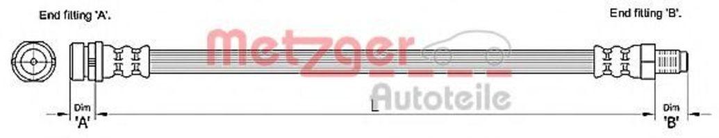 Шланг тормозной METZGER 4110238