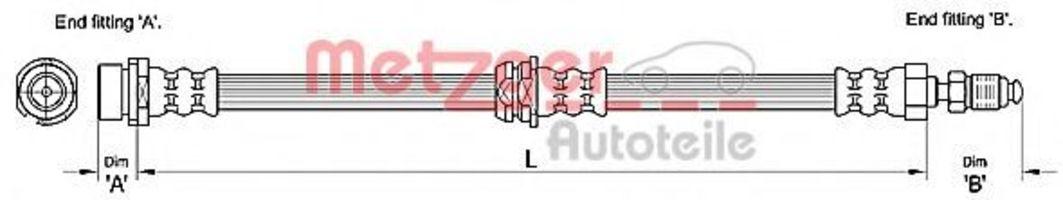 Шланг тормозной METZGER 4110240