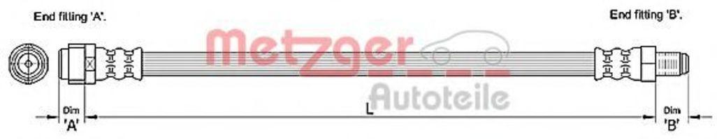 Шланг тормозной METZGER 4110284