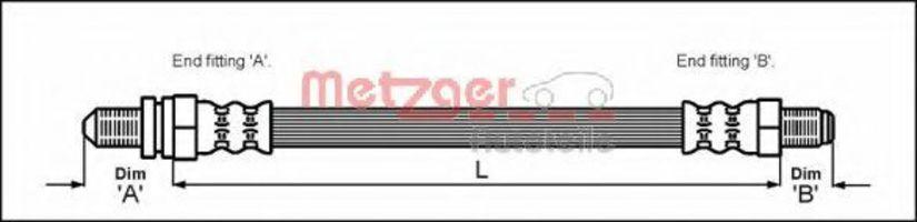 Шланг тормозной METZGER 4112502