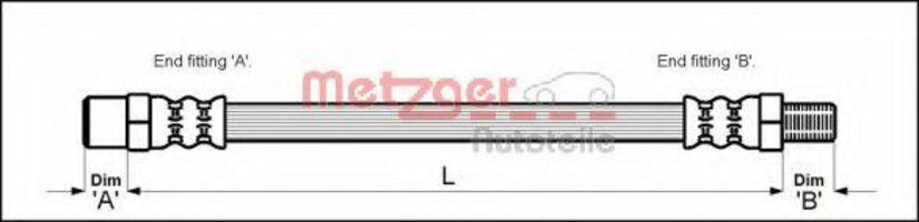 Шланг тормозной METZGER 4110336