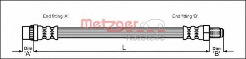 Шланг тормозной METZGER 4114653