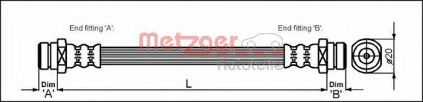 Шланг тормозной METZGER 4112257