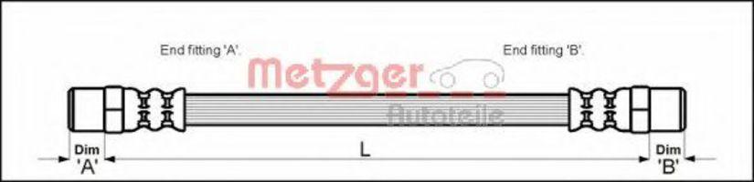 Шланг тормозной METZGER 4110594