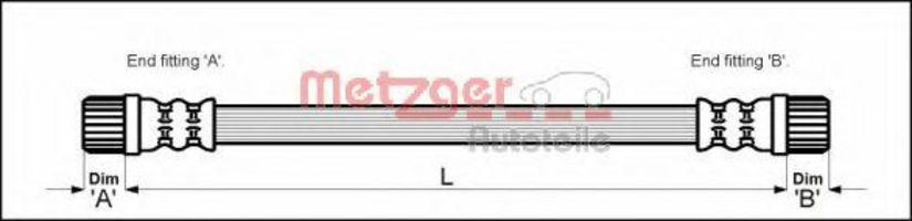 Шланг тормозной METZGER 4111152
