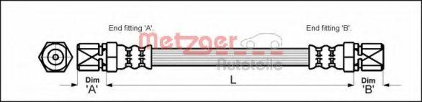 Шланг тормозной METZGER 4112813
