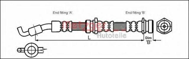 Шланг тормозной METZGER 4114061