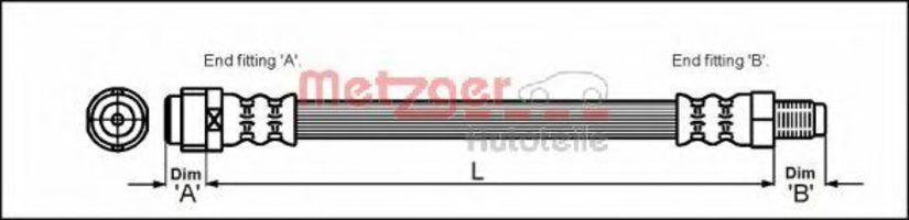 Шланг тормозной METZGER 4110581