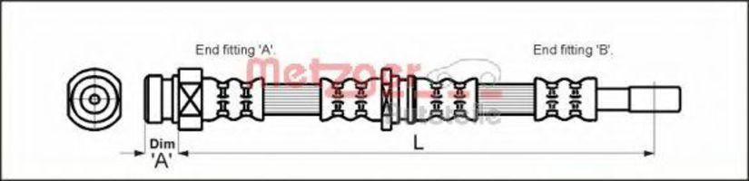 Шланг тормозной METZGER 4113315