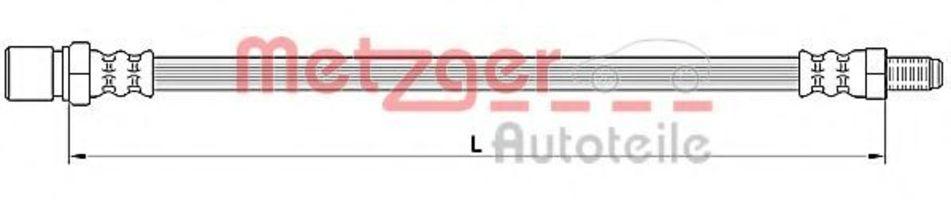 Шланг тормозной METZGER 4110641