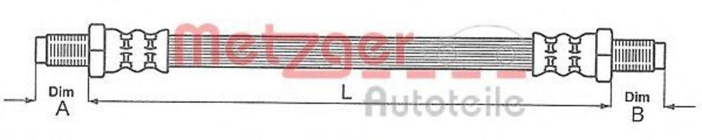 Шланг тормозной METZGER 4113255
