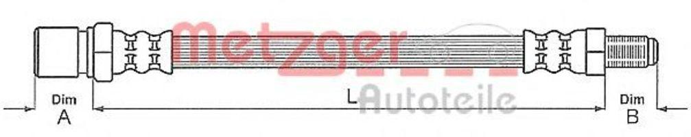 Шланг тормозной METZGER 4113244
