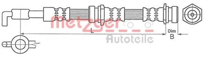 Шланг тормозной METZGER 4114062