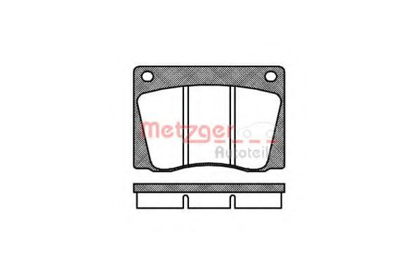 Комплект тормозных колодок, дисковый тормоз METZGER 1170808