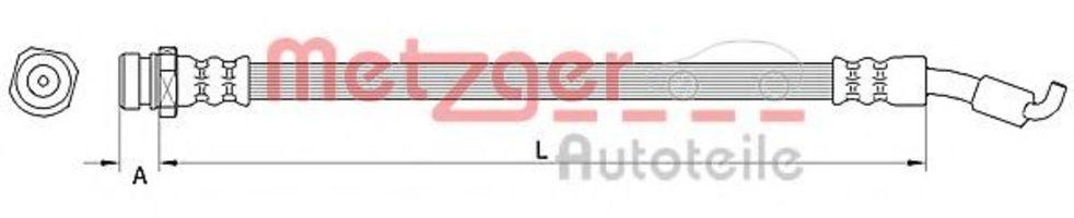 Шланг тормозной METZGER 4110822